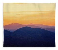Mountain Light And Silhouette  Fleece Blanket