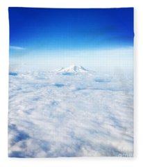 Mountain Peak In Blue Fleece Blanket