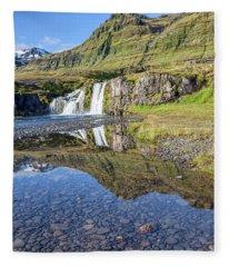 Mountain Reflection Fleece Blanket