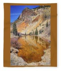 Mountain Reflections Fleece Blanket