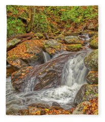 Mountain Stream Rock Fleece Blanket