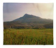 Mountain Sunrise Fleece Blanket