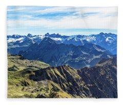 Mountain View To The Allgaeu Alps Fleece Blanket