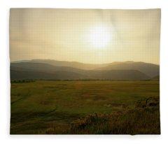 Mountains At Dawn Fleece Blanket