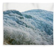 Mountainside Hoarfrost Fleece Blanket