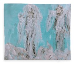 Mr And Mrs Angels Fleece Blanket