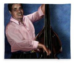 Mr Irving The Bassist 1b Fleece Blanket