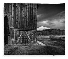 Mt. Adams Barn Fleece Blanket