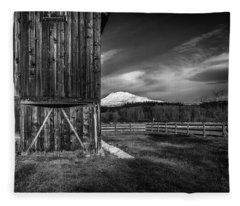 Mt. Adams Barn Fleece Blanket