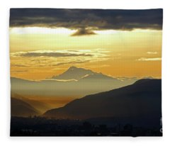 Mt Ausangate And Cusco At Dawn Peru Fleece Blanket