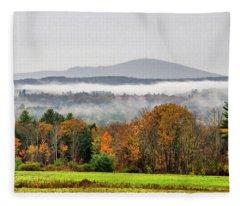 Mt. Kearsage Foggy View Fleece Blanket