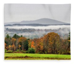 Mt. Kearsage Foggy View Fleece Blanket