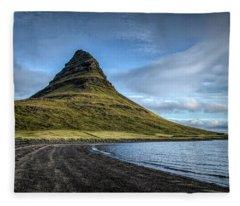 Mt Kirkjufell Fleece Blanket