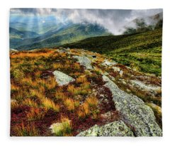 Mt. Washington Nh, Autumn Rays Fleece Blanket