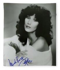 Much Love ... Cher Fleece Blanket