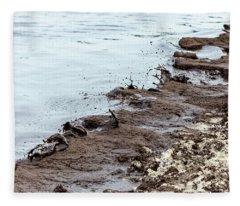 Muddy Sea Shore Fleece Blanket