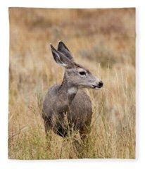 Mule Deer Pose Fleece Blanket