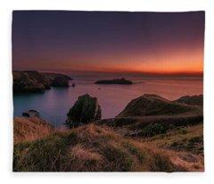 Mullion Cove - Sunset 2 Fleece Blanket