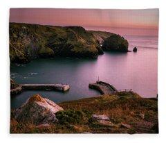Mullion Cove Sunset - Cornwall General View Fleece Blanket