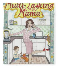 Multi-tasking Mama I Fleece Blanket