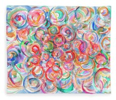 Multicolor Bubbles Fleece Blanket