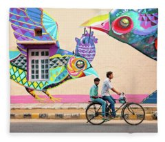 Mural Art Fleece Blanket