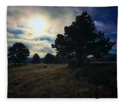 Fleece Blanket featuring the photograph Murky Atmosphere Elk Meadow by Dan Miller