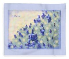 Muscari Morning Fleece Blanket