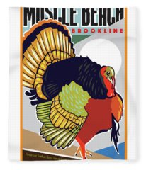 Muscle Beach Fleece Blanket