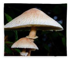 Mushroom - Chlorophyllum Molybdites Fleece Blanket