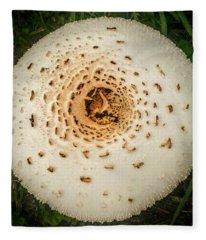 Mushroom Mandala Fleece Blanket