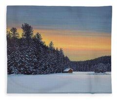 Muskoka Winter Fleece Blanket