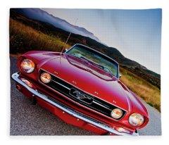Mustang Convertible Fleece Blanket