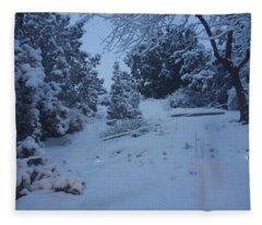 My Colorado Backyard Fleece Blanket