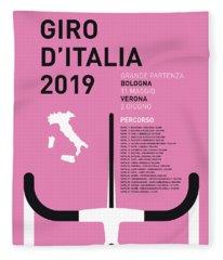 My Giro Ditalia Minimal Poster 2019 Fleece Blanket