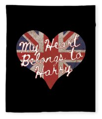 My Heart Belongs To Prince Harry Fleece Blanket