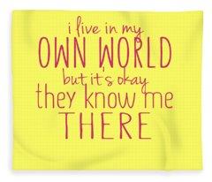 My Own World Fleece Blanket