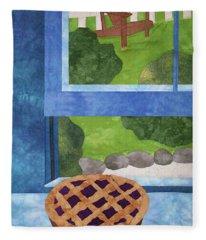 My Soul In A Blackberry Pie Fleece Blanket