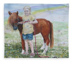My Time With Ginger Fleece Blanket