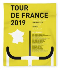 My Tour De France Minimal Poster 2019 Fleece Blanket