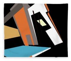 My World In Abstraction Fleece Blanket