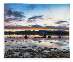 Myre Swapm Walkway On Vesteralen Norway Fleece Blanket