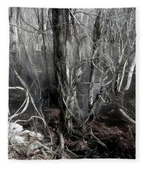 Mystery Among The Vines Fleece Blanket