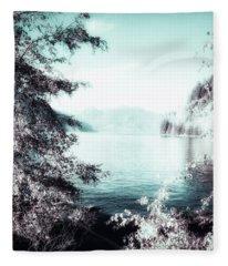 Mystic Porteau Cove  Fleece Blanket