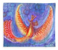 Mystical Phoenix Fleece Blanket