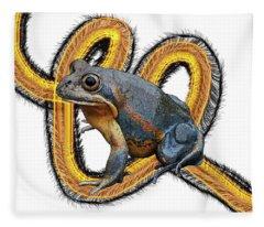 N Is For Northern Banjo Frog Fleece Blanket