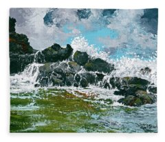 Nakalele Point Fleece Blanket