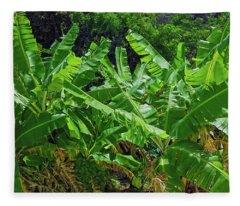 Nana Banana Fleece Blanket