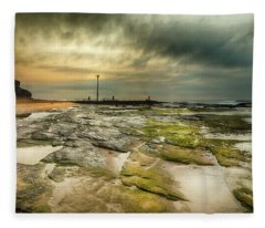 Fleece Blanket featuring the photograph Narrabeen Sunrise by Chris Cousins