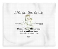 Narrowleaf Milkweed Fleece Blanket